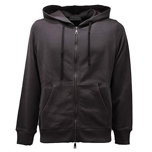 PAOLO PECORA 9381AC Felpa Uomo Black Delave' Hoodie Sweatshirt Men [M]