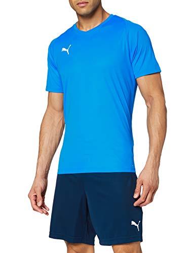 PUMA Liga Jersey Core, Maglia Calcio Uomo, Blu (Electric Blue Lemonade/White), M