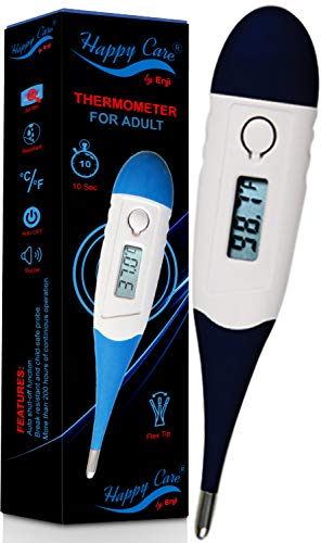 Thermometer for Oral Rectal Armpit & Underarm, for Baby Kids & Adult - Best Digital Quick 10 Second Reading Fever Body Termometro for Infant Kid Babies Children and Pets (Blue)