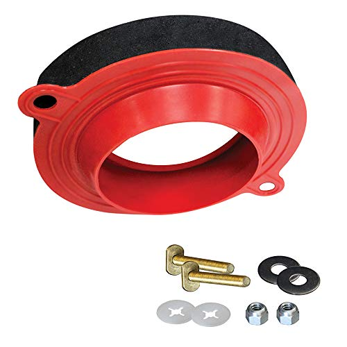 Korky 6000BP Universal Toilet WaxFree Seal with Hardware - Toilet Installation Made Easy - Made in USA , Red