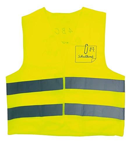 DIE SPIEGELBURG 82789 Kinder Warnweste gelb Grösse S
