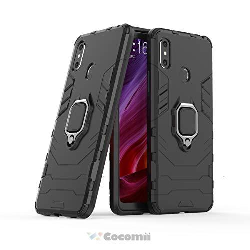 Cocomii Black Panther Armor Xiaomi Mi Max 3 Hülle NEU [Strapazierfähig] Taktisch Metallring Ständer [Funktioniert Mit Magnetischer Autohalterung] Case Schutzhülle for Xiaomi Mi Max 3 (B.Jet Black)