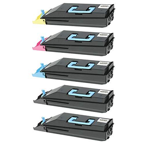 5 Toner kompatibel für Utax CDC 1725 1730 Triumpf-Adler DCC 2725 2730 - Schwarz je 20.000 Seiten, Color je 12.000 Seiten
