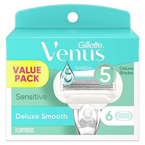Gillette Venus Extra Smooth Sensitive Women's Razor Blades - 6 Refills