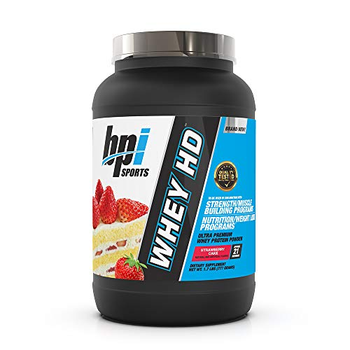 BPI Whey HD 21 Servings Strawberry Cake, 900 g