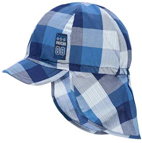 Döll Jungen Schirmmütze Nackenschutz ** fällt klein aus*** UV Schutz 50 Kariert (49, Blau (Truck))