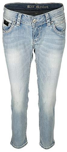 Blue Monkey Damen 7/8 Jeans Stacy 30192 (W25 / L28)