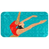 Lilibeely Bathtub Non-Slip Mat Baby Bath Tub Mat Anti-Slip with Suction Cups Rhythmic and Artistic Gymnastics Bathroom Tubs Massage Shower Mat