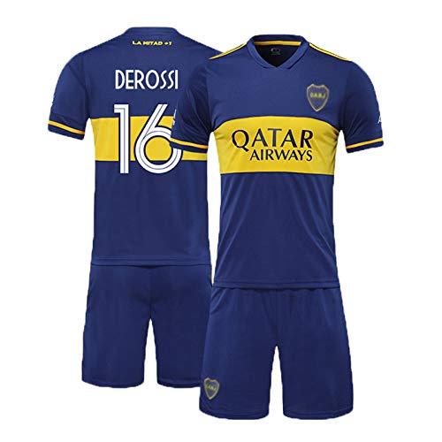 PUPPYY Boca Juniors 16# 20-21 (Home Away) Equipo de Entrenamiento de fútbol, Juego de Camiseta de fútbol Unisex, chándal de fútbol, Regalo de los Hombres home-140