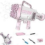 DAOLIN Rocket Boom Bubble Gun 44, máquina de Burbujas eléctrica con Brazo Cohete Recargable para niños, Pistola de Burbujas automática de Juguete con Aire soplado, Fiesta de Verano (A,A)