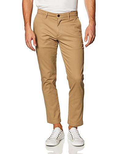 Amazon Essentials - Pantalones ajustados informales en color caqui para hombre, Beige...