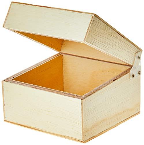 Caixa de fichário 3x5 (Pequena), Mad. Pinus Luxo - Souza & Cia (Ref: 3541)