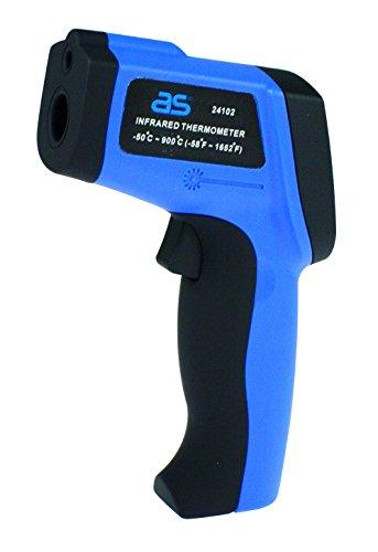 as - Schwabe 24102 Profi Infrarot Thermometer/Pyrometer, berührungslose Messung der Temperatur von-50 bis +900°C, blau