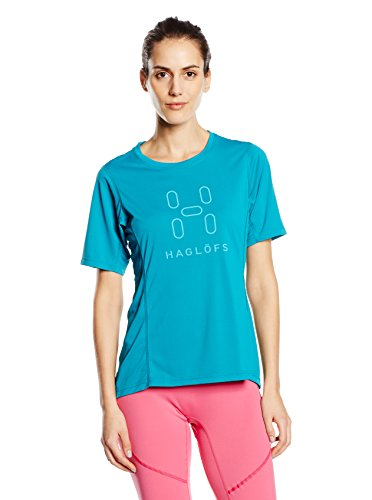 Haglofs Femme Intense T-shirt avec logo pour homme - Bleu - L