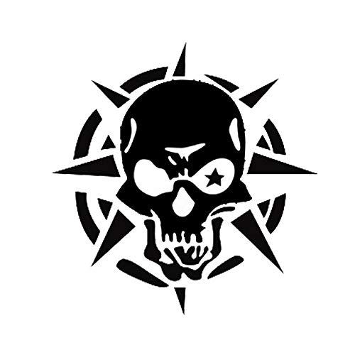 OLUYNG Etiqueta engomada del Coche 14 * 15 CM Storm Phantom Ghost Rider Skull Car Stickers Funny Car Stickers Calcomanías Reflectantes Negro/Plata CT-579