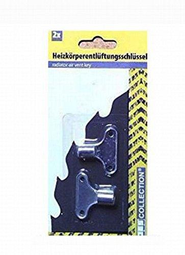 2 Heizkörperentlüftungsschlüssel / Heizkörper-Entlüftungsschlüssel - Vierkant-Standard 5,0 mm
