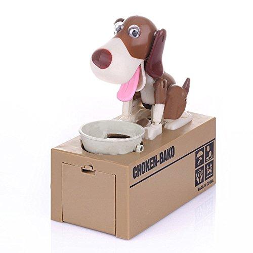 FGF Tirelire chien robot mange-pièces, jouet pour enfant