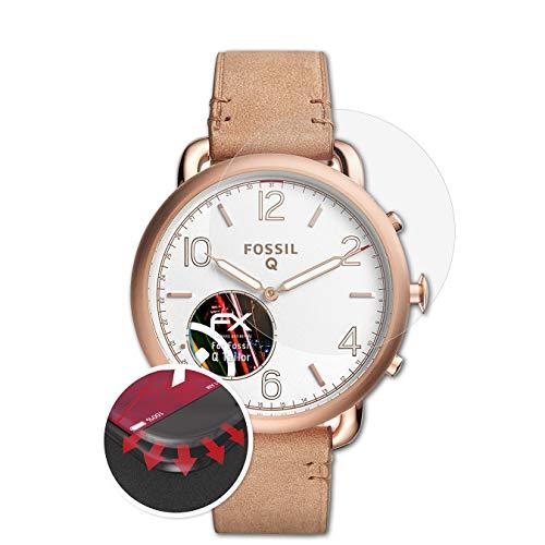 atFoliX Schutzfolie kompatibel mit Fossil Q Tailor Folie, entspiegelnde & Flexible FX Bildschirmschutzfolie (3X)