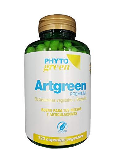 Phyto Green Artgreen Premium | 120 Cápsulas Vegetales | Glucosamina Vegetal + Boswelia + Vitamina C | Ideal para los Huesos, Articulaciones y Cartílago |Apto para Veganos | Solo 2 Cápsulas al día