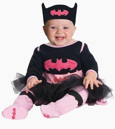 Costume batgirl bimba DC Super friends bebè travestimento carnevale halloween cosplay licenza ufficiale tuta tutù mantello pantaloni fascia per la testa e scarpe supereroe costume supereroi batman robin wonder woman superman lanterna verde spiderman (0/6 mesi)