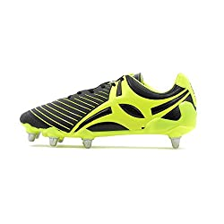 Yellow and Black Gilbert Evo MK2 rugby boot