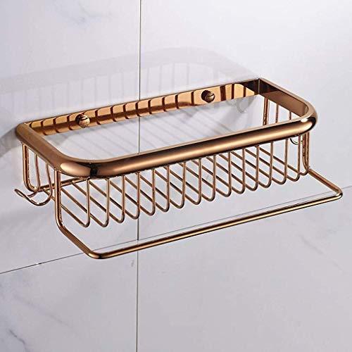 SLINGDA handdoekenrek badkamer met haak opbergmand met staaf vierkante mand enkele laag douche kamer rack