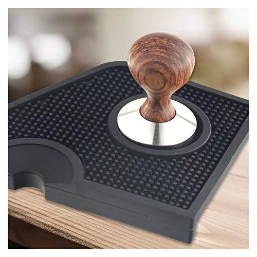 HUNDU Kawa manipulowanie narożne Mata Espresso Uchwyt Tampingu Pod Fit dla Barista Anti-Skid Silikonowa Coffee Coffee Mat czarny ekspres do kawy