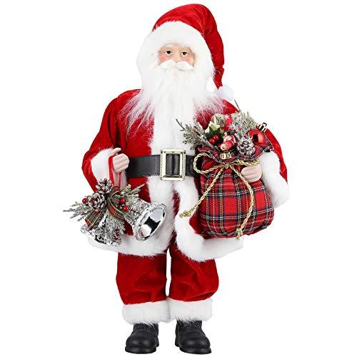 18 Pulgadas Decoración de Figura Grande papá Noel, Adornos Navidad