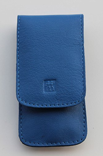 "Zwilling Nageletui\""Classic Inox\"", 3-teilig, Rindleder (blau)"