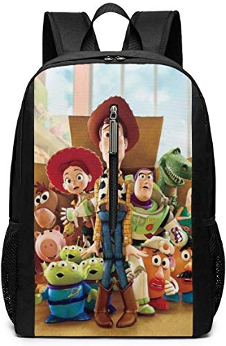 BAGGNICE Rucksäcke Daypacks Taschen, Toy Story 17 Inch School Bag Backpack College Bag Laptop Backpack Large Capacity Backpack (Black)