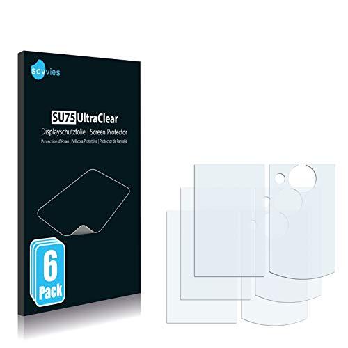 savvies Protector Pantalla Compatible con Sony Bloggie MHS-FS2 (6 Unidades) Pelicula Ultra...
