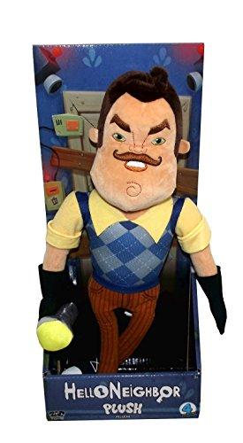 Zag Toys Hello Neighbor Large Neighbor Plush Figure Toy, 15 inches (Holding Flashlight)
