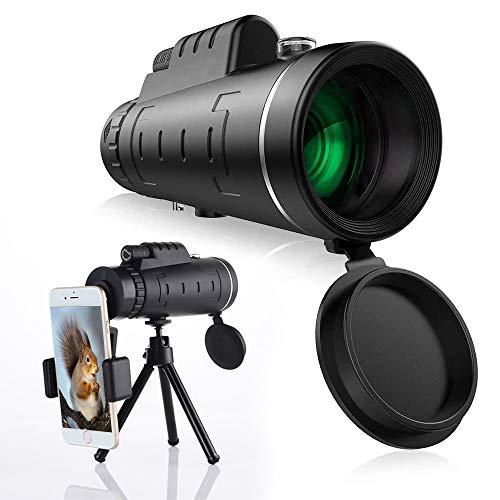 Monocular Telescope,40x60 Monocular with Smartphone Holder & Tripod Waterproof Zoom Telescope High Power Monocular Scope for Bird Watching Hunting Camping Wildlife.