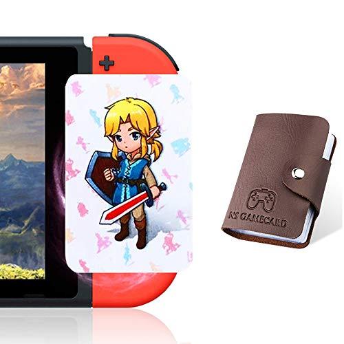 boshile 24 Piezas con Zelda Links Awakening Botw NFC Tarjetas para la Leyenda de Zelda Breath of The Wild Switch/Wii U- 24 Piezas con Soporte para Tarjeta