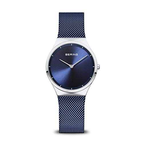 BERING Damen Analog Quarz Uhr mit Edelstahl Armband 12131-307