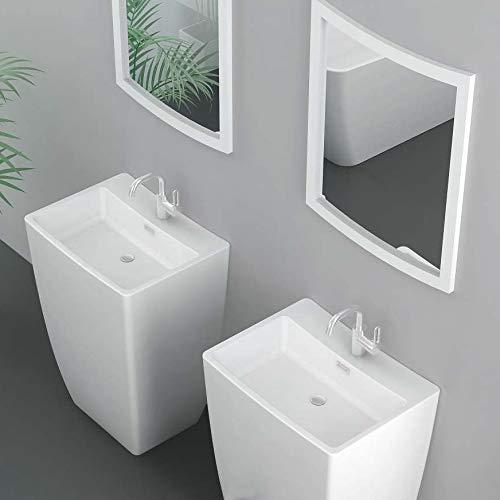 kzoao Colonne de sortie de bain à laver V + Miroir en brillant