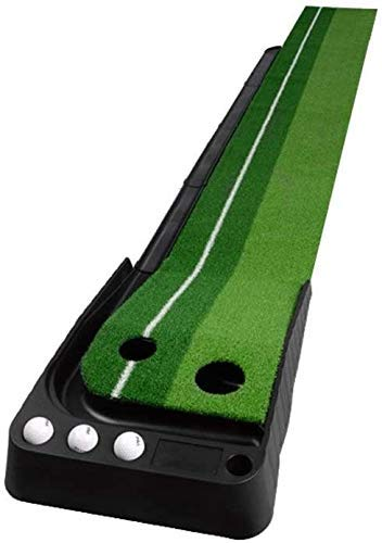 YANGSANJIN Golf Driving Range Pad Indoor Golf Putter Pad, Heimtrainer Mini Portable Golf Putter Pad, für Wohnzimmer, Garten hinter dem Haus (Farbe: Green Track, Größe: 30 * 250 cm)