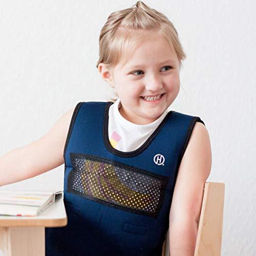Harkla Gewichtete Kompressionsweste für Kinder (6 bis 9 Jahre) / Die Gewichtsweste wirkt beruhigend bei Reizüberflutung und fördert die Konzentration Ihres Kindes
