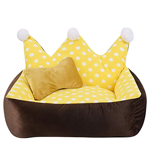 Creative Crown Princess Bed Comfortabel Stretch Cat Nest Warm Hondenbed Pet House Kussen Ademend Big Dog Kennel