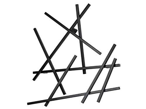 Spinder Design - Matches XS Portemanteau mural – 80 x 75 x 10 cm – 7 crochets – Noir