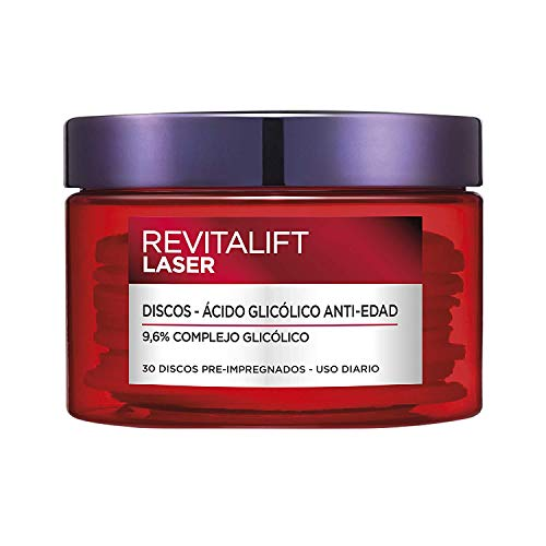 L'Oréal Paris Revitalift Láser Peeling Anti-manchas en Discos con Ácido Glicólico, 30 Discos