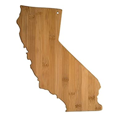 """Totally Bamboo State Cutting & Serving Board – """"CALIFORNIA"""", 100% Organic Bamboo Cutting Board, Extremely Strong and Durable Perfect for Cooking, Entertaining, Decor and Gift Set. Designed in USA"""