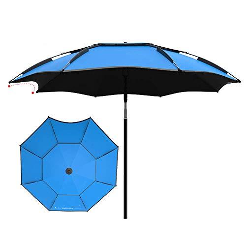 NMDD Paraguas para Pesca al Aire Libre, sombrilla de Playa Plegable e inclinable, protección UV Grande a Prueba de Lluvia, 2/2,2/2,4/2,6 m