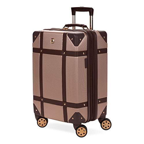 SWISSGEAR 7739 Trunk, Hardside Spinner Luggage, Carry-on - Blush
