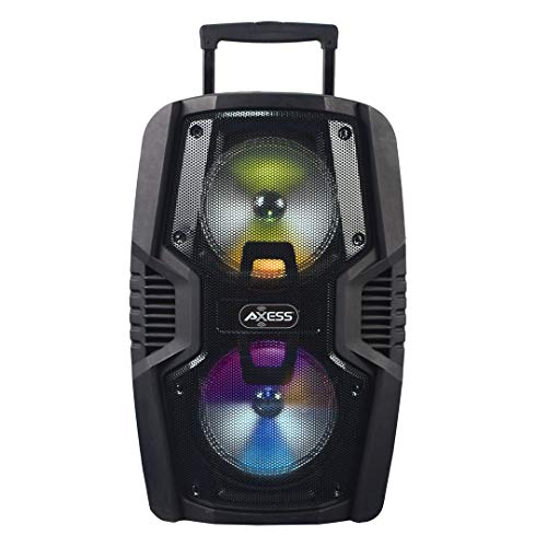 """Axess Portable Bluetooth Speaker with Double 10"""" Woofers 1.5'' Tweeter and Digital Display, Rich Bass Wireless Bluetooth Speaker Outdoor/Indoor AXESS PABT6029"""