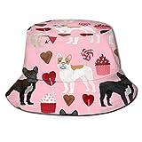 GMGMJ Sombrero unisex de San Valentín francés del cubo del verano del viaje del sol del pescador sombreros