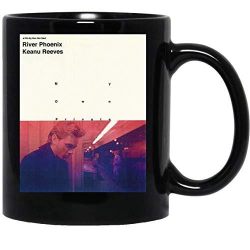 N\A My Own Idaho Deep Night River Phoenix Pink Purple Helvetica 90s Grunge Funny Taza de café para Mujeres y Hombres Tazas de té Té