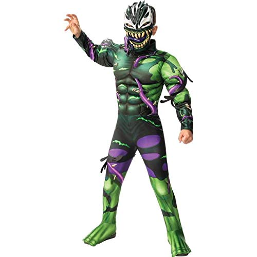 Marvel Venomized Hulk Padded Muscle Chest Child Kids Halloween Costume (Deluxe Version, Medium (8-10))