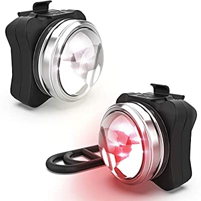 NP NIGHT PROVISION OPTIKS 210 Front & Rear LED Bike Light USB Rechargeable Compact (1 Pack)