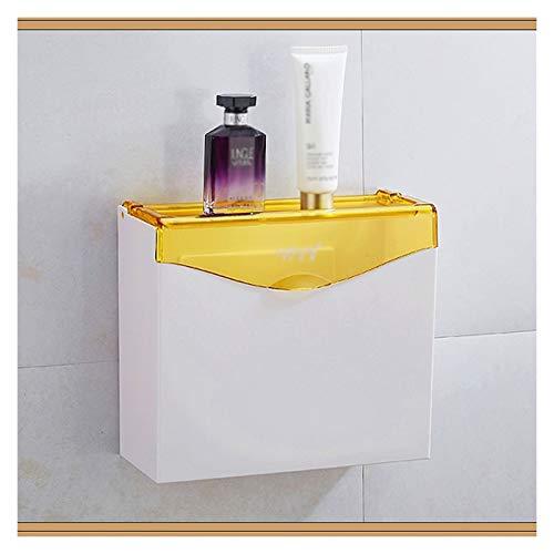 Caja para Pañuelos de Papel Soporte de tejido de plástico para bombeo, caja dispensadora de tejido con capacidad de carga para baños y hoteles (montados en la pared) Caja de Portapañuelos